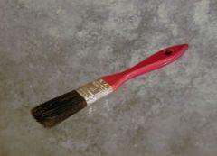 "Paint Brush 1"" Wood Handle Black Bristle 1 GROSS"