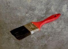 "Paint Brush 1.5"" Wood Handle Black Bristle 12/BOX"