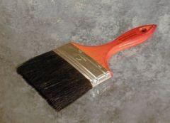 "Paint Brush 4"" Wood Handle Black Bristle 12/BOX"