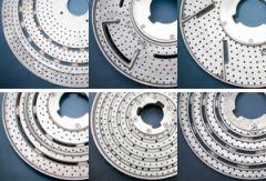 Aluminum Back Showerfeed Rotary Brushes