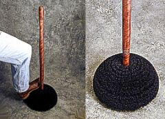 Boot Brush With Deluxe Turned Wood Handle