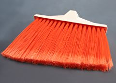 Broom Upright Angle Polypro Orange white handle