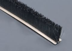 "Flexible Brush Seal w Adhesive 5/8"" OAH 3/8"" wide"