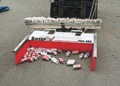 Debris Collector Ends for Forklift Mounted Brooms