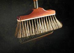 "10""Upright Broom Mahogany Block w/Boar Hair & HDL"