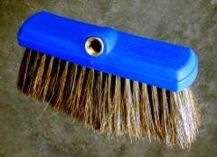 "Car Wash Brush 10"" Flow Thru Plstc Block Boar Hair"