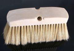"""Car Wash Brush 10"""" Poly Block 4"""" White Boar Hair"""