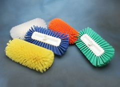 "Tank Brush 12"" Epoxy Set Green Polypropylene"