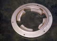 "Clutch Plate 5"" Center Hole 4 prong Cello Mach."