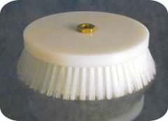 "Upholstery Brush  7""dia.  1.25"" trim .018 level"
