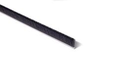 "Strip Brush 36"" x 1"" OAH  .010 Black Cr Nylon"