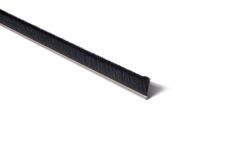 "Strip Brush 72"" x 1"" trim .010 Black Cr Nylon SST"